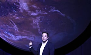 SpaceX chief Elon Musk unveils his plans to colonise Mars during the International Astronautical Congress in Guadalajara, Mexico, in September.