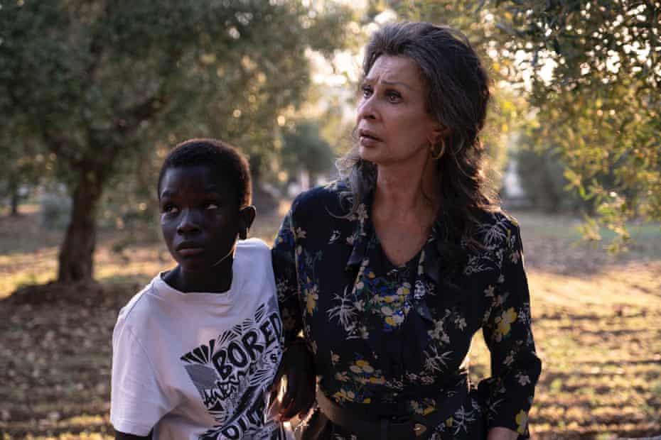 The Oscar-tipped Sophia Loren with 'magnetic' newcomer Ibrahima Gueye in The Life Ahead.