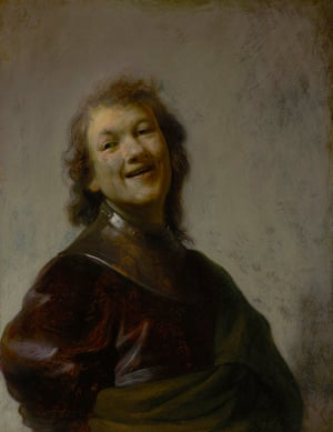 Rembrandt Laughing, c1628, by Rembrandt.