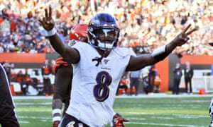 Lamar Jackson continued to dazzle on Sunday