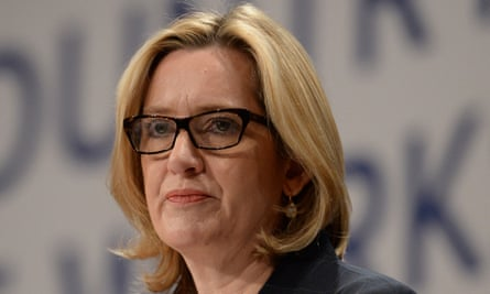 Amber Rudd, home secretary, at the Tory party conference in Birmingham. The firm denied her claim that it 'didn't even consider training locally'.