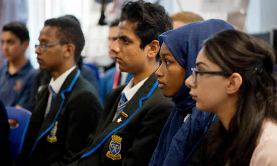 Students at Saltley Academy, Birmingham