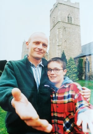 Andrew and Tanja in 1994 in Reepham, Norfolk.