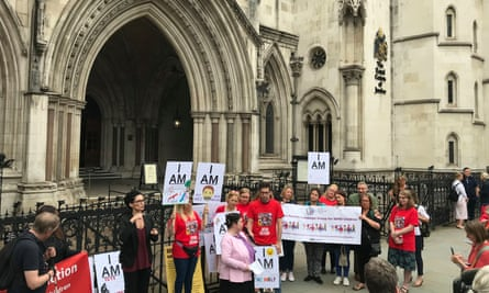Campaigners protesting in June outside the Royal Courts of Justice in support of parents who are challenging the government's inadequate funding to support children with special educational needs