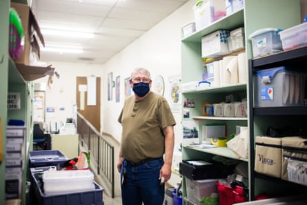 Mike White, storekeeper for Washoe county district health department, will be responsible for receiving and storing the Covid-19 vaccine.