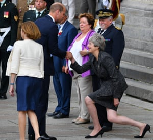 Prince William, Theresa May in Amiens