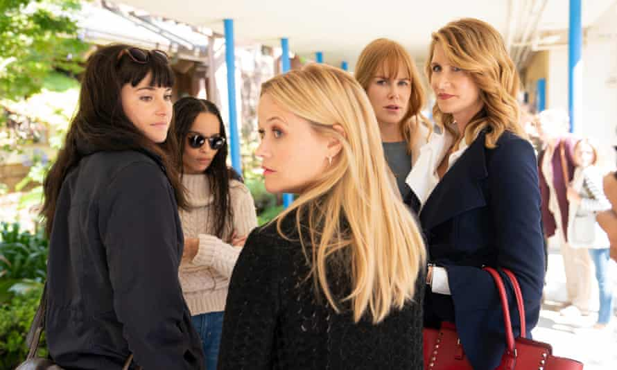 Big Little Lies cast (from left): Shailene Woodley, Zoë Kravitz, Reese Witherspoon, Nicole Kidman and Laura Dern.