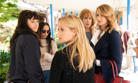 Big Little Lies cast (from left): Shailene Woodley, Zoë Kravitz, Reese Witherspoon, Nicole Kidman and Laura Dern.