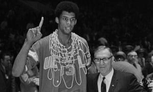 John Wooden coached Kareem Abdul-Jabbar at UCLA