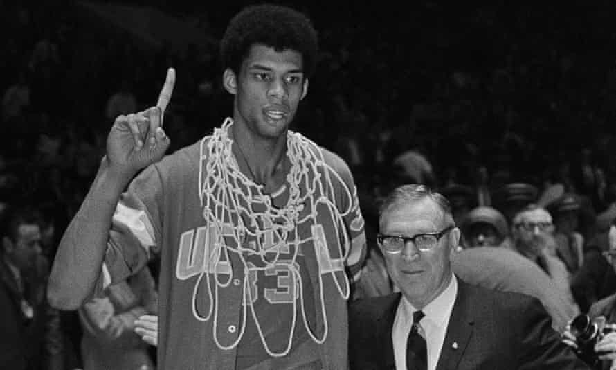 John Wooden coached Kareem Abdul-Jabbar at UCLA