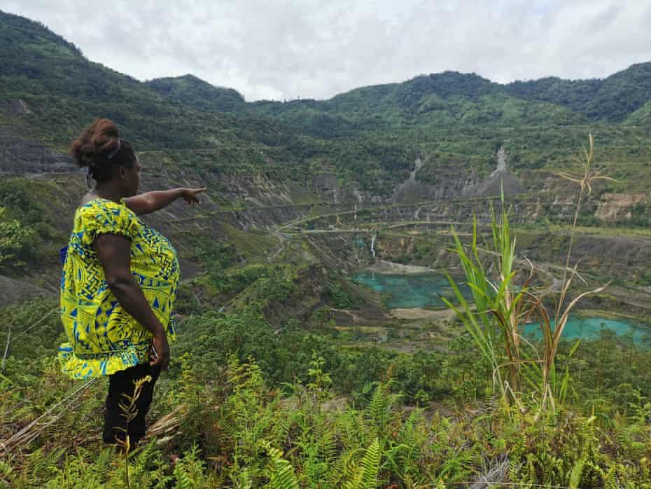 The Panguna mine site