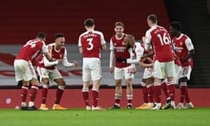 Arsenal celebrate.