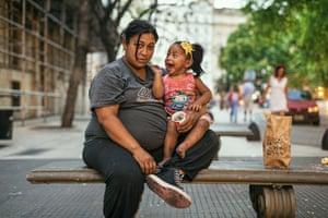 Lola holding daughter Nahiana