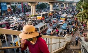Traffic jam in Hanoi