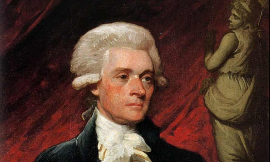 A 1786 portrait of Thomas Jefferson by artist Mather Brown.