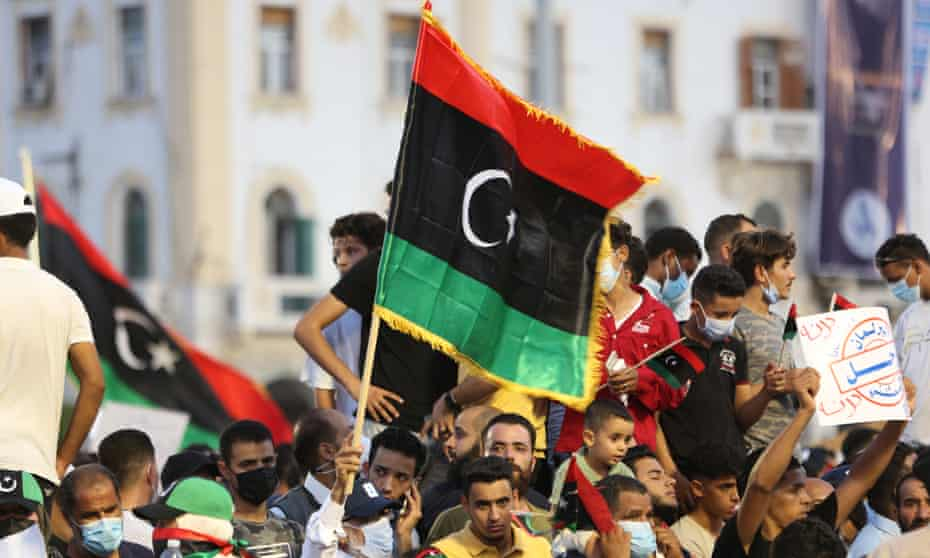 Protests in Tripoli last week amid fears that elections will not go ahead as planned at the end of this year.