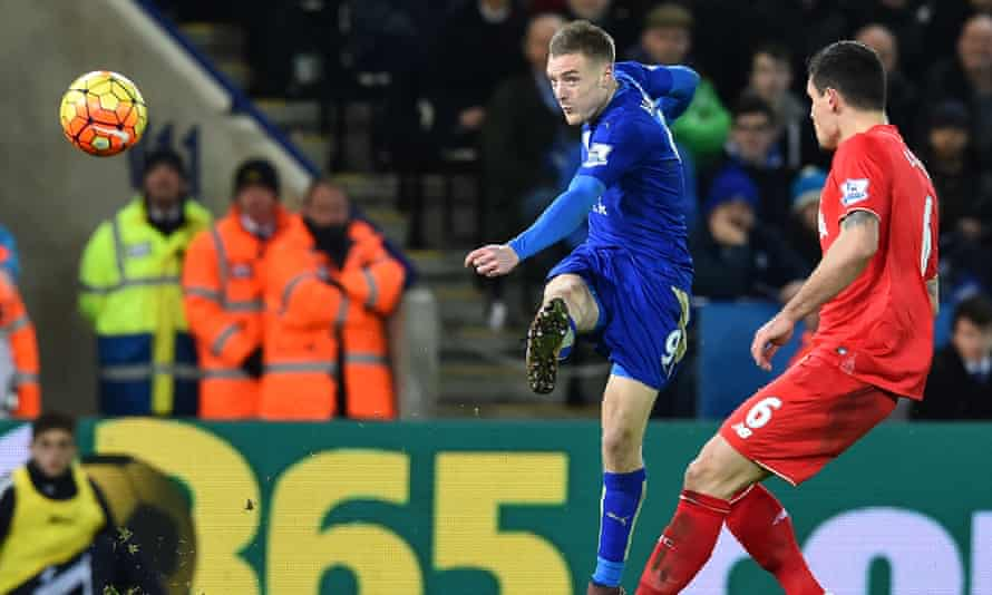 Jamie Vardy scores from long range against Liverpool in Leicester's title-winning season – but did that tally with the xG?