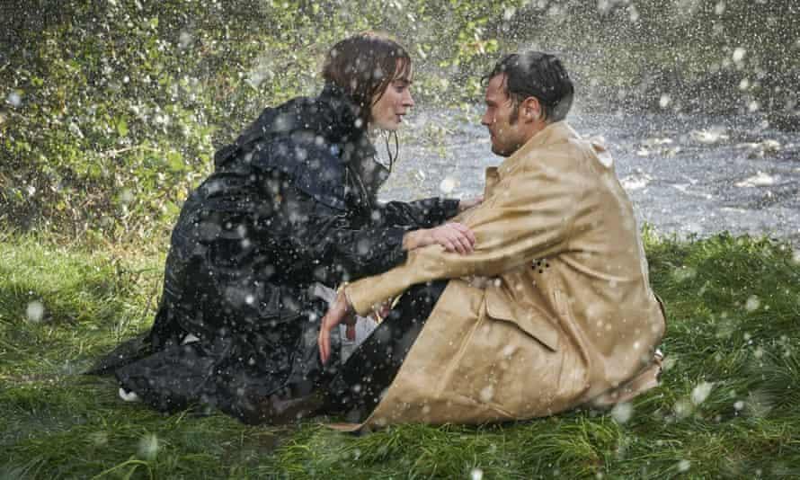 Wet … Emily Blunt and Jamie Dornan in Wild Mountain Thyme.
