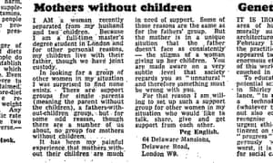 Peg English's letter published in the Guardian on 22 February 1979