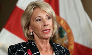 DeVos's proposal would replace Obama-era guidelines she scrapped last year.