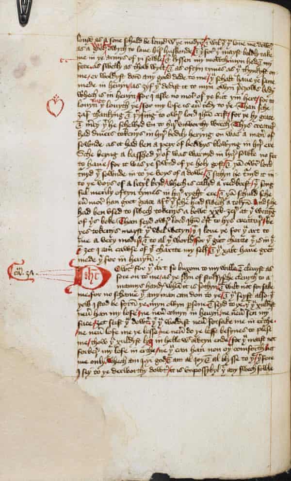 Add. 61823, f.44vMargery Kempe manuscript