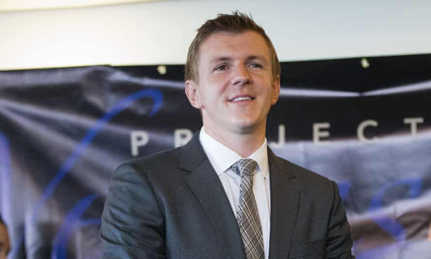 James O'Keefe, founder of Project Veritas, in Washington.