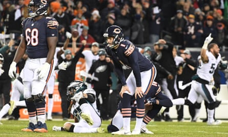 Cody Parkey watches the Chicago Bears' season go up in smoke after his missed field goal