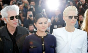 Jarmusch at Cannes promoting The Dead Don't Die with stars Selena Gomez and Tilda Swinton in May.