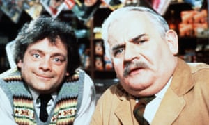 Ronnie Barker (right) as Arkwright in Open All Hours