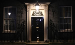 A candle lit by the prime minister Boris Johnson and his fiancee Carrie Symonds placed on the doorstep of Number 10 Downing Street in a doorstep vigil for Sarah Everard.