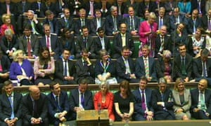 MPs debate the Queen's speech in the House of Commons.