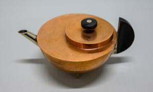 A Bauhaus teapot designed by Marianne Brandt.