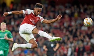 Pierre-Emerick Aubameyang has the best minutes-per-goal ratio in Premier League history.