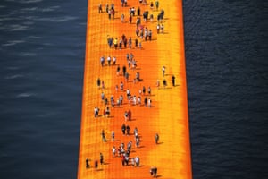 View of the installation with people for scale