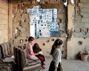 Lebanon. Tripoli. November 2013. Interior of an apartment on Syria Street destroyed by the fights, where the sectarian fights between Sunnis and Shiite are more violent.