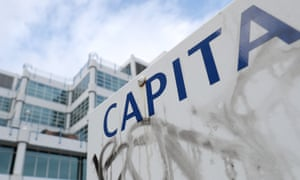 A Capita sign outside their offices in Bournemouth