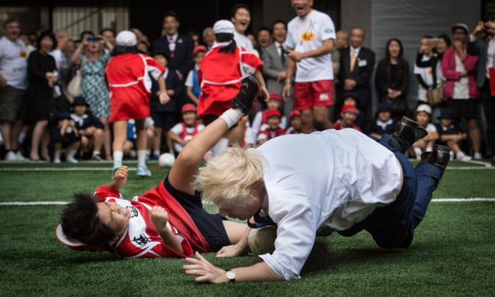 Image result for Johnson tackles kid in rugby