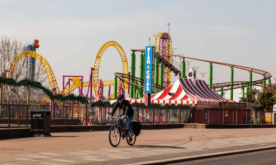 Cycling in Southend.