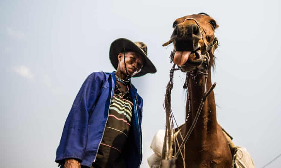 Some Ju/'hoansi now own horses, making travel to more remote villages much easier.