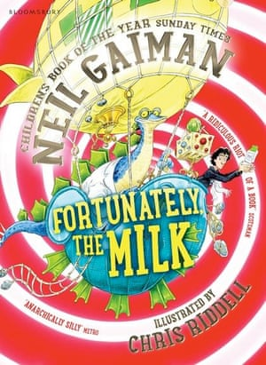 Fortunately, The Milk, a children's book by Neil Gaiman illustrated by Chris Riddell