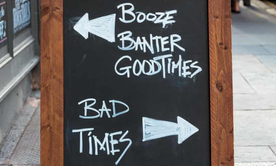 banter chalk board outside a pub