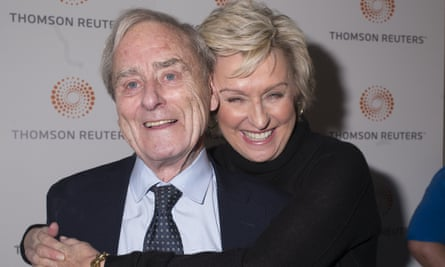 Harold Evans at a screening of the 2016 documentary Attacking the Devil, with his wife Tina Brown.