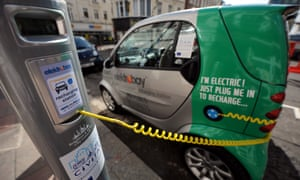 An electric car charging point in Brighton