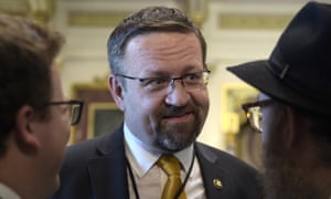 Sebastian Gorka, who previously wrote about national security for Breitbart News, at the White House.