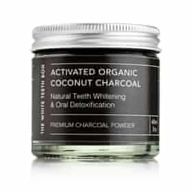 Charcoal whitening powder by The White Teeth Box.