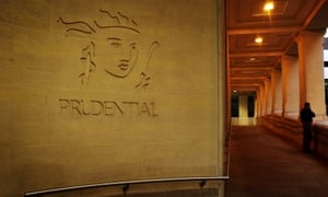 Logo on Prudential building in London EC4