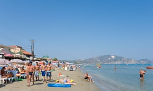 Laganas beach on the island of Zakynthos, added to the government's quarantine exemption list.