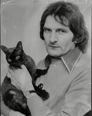 Norman Scott with his cat