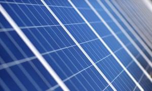 Solar panels at Royalla solar farm near Canberra