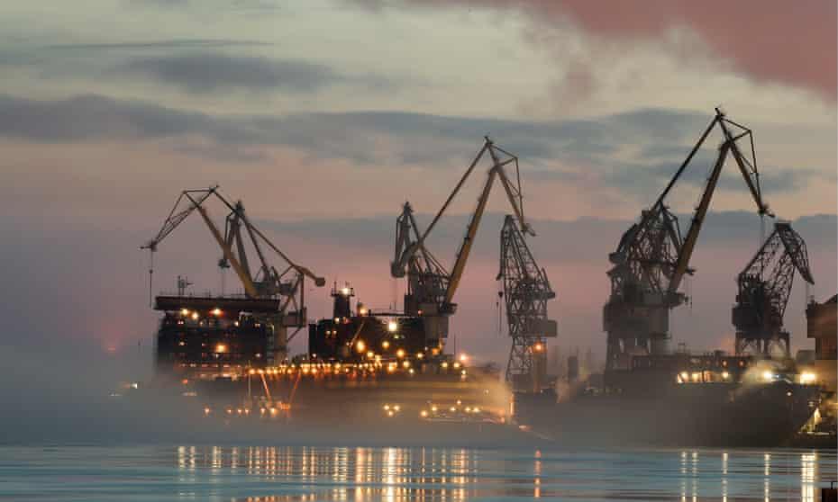 The Akademik Lomonosov floating nuclear power station